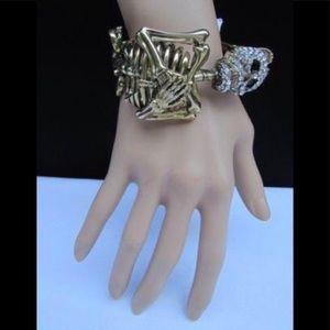 Jewelry - skeleton bracelet gold or silver